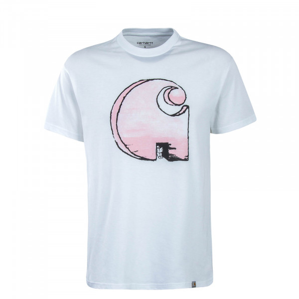 Herren T-Shirt Way Through White Pink