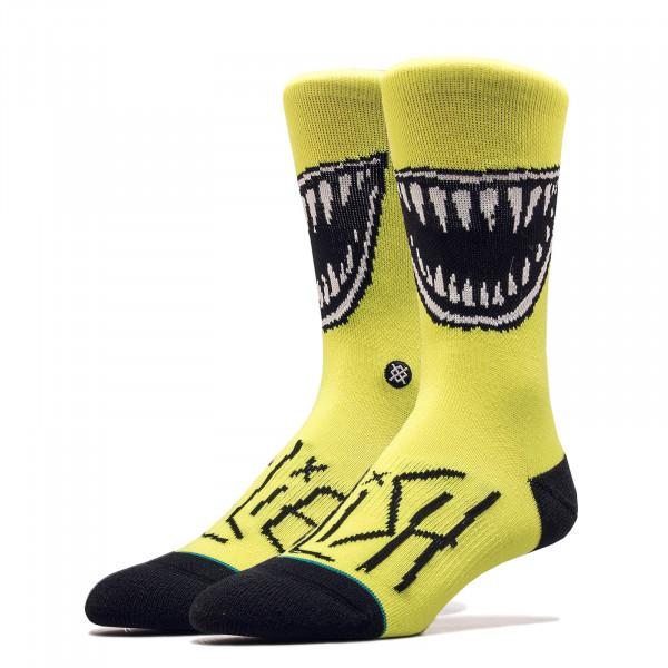 Unisex Socken Billie Eilish Grin Neon Yellow