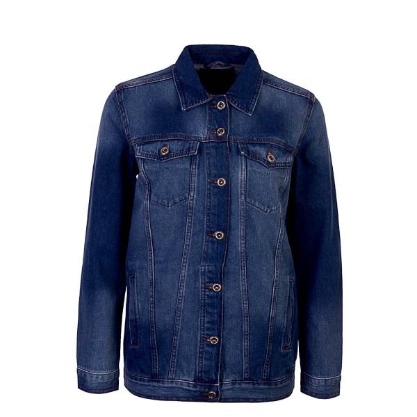 Only Wmn Jeans Jkt Eva Oversized Blue