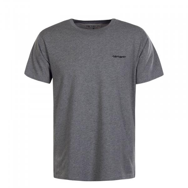 Herren T-Shirt Script Embroidery Grey Heather Black