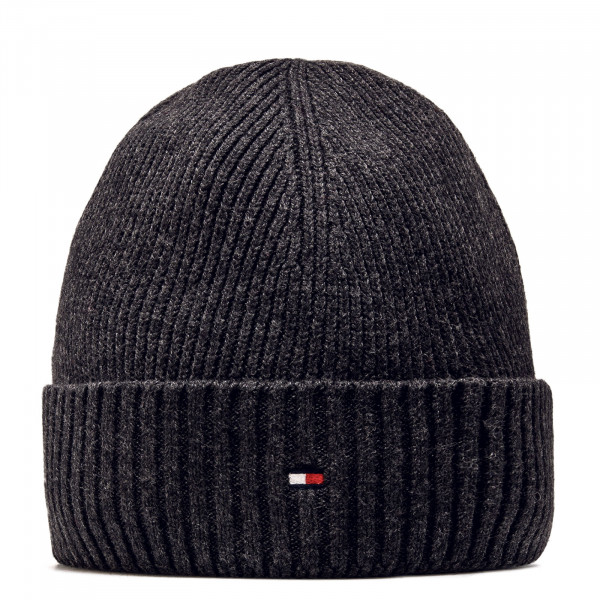 Beanie Pima Cotton Charcoal Grey
