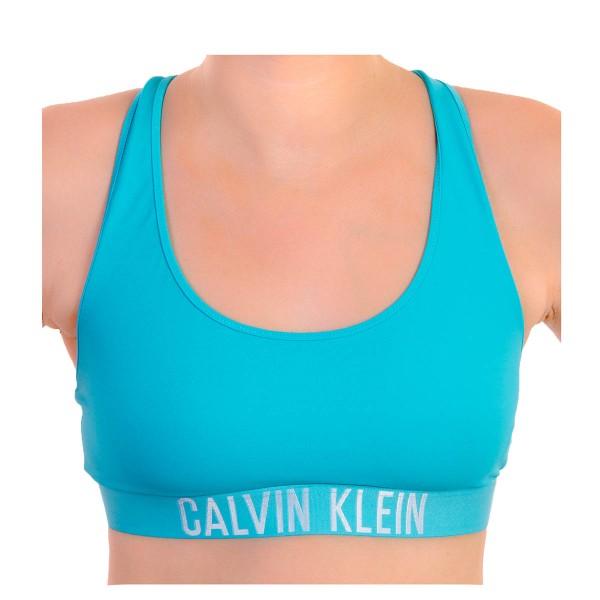 CK Wmn Swimwear Racer Bralette Aqua Blue