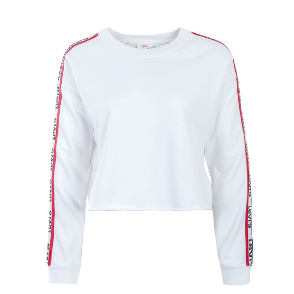 Levis Wmn Sweat Graphic Raw Cut Crew Wht