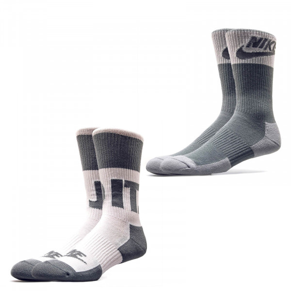 Nike Socks 2Pack Crew White Grey