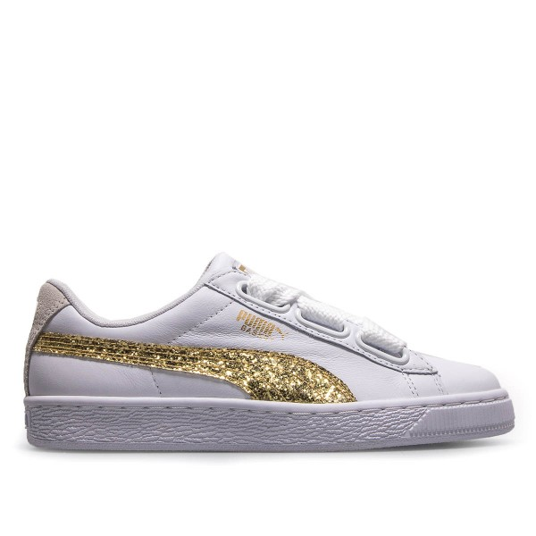Puma Wmn Heart Glitter White Gold