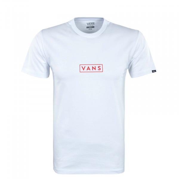 Herren T-Shirt - Classic Easy Box - White / Red