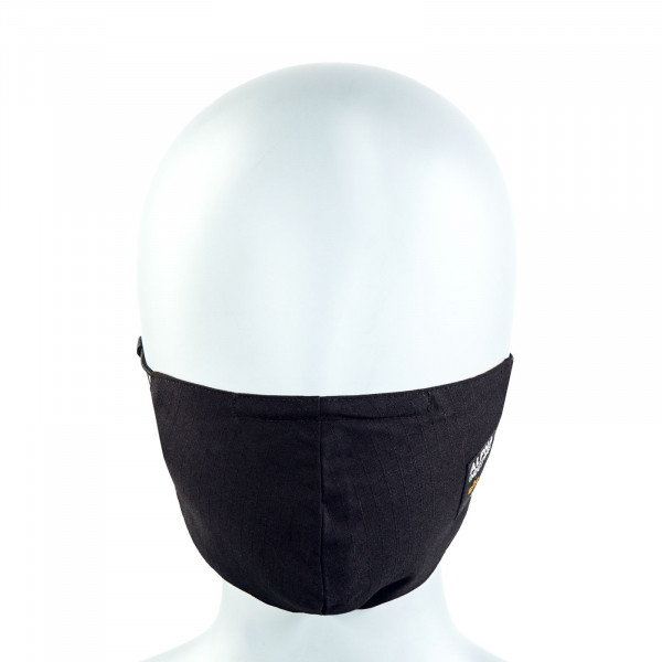Alltagsmaske - Label Ripstop Face Mask - Black