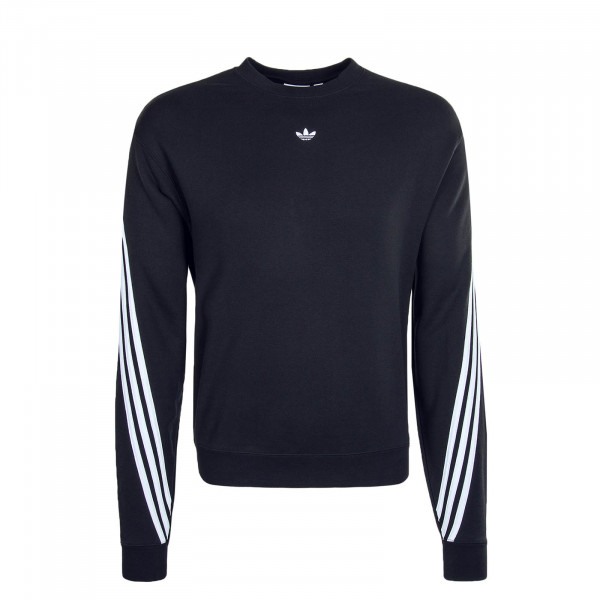 Herren-Sweater 3Stripe Wrap Black White