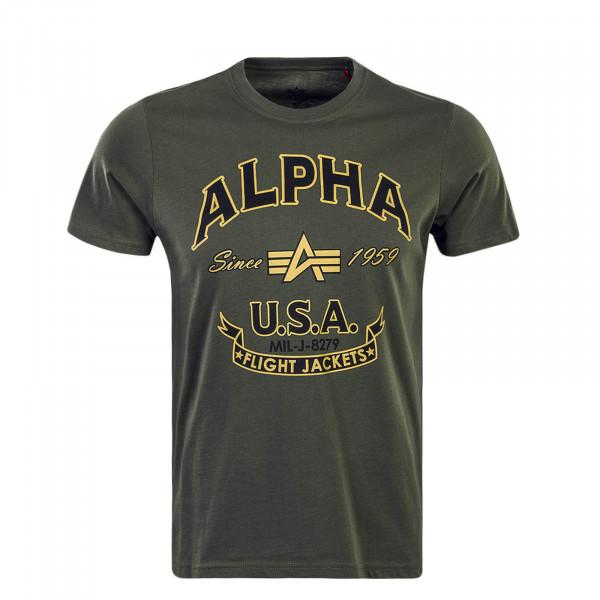 T-Shirt FJ Olive Black Gold