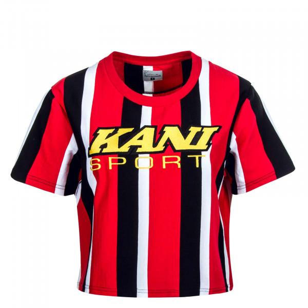 Damen T-Shirt Sport Stripe Tee Red