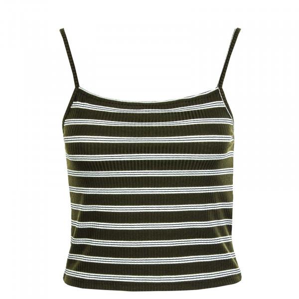 Damen-Top Larra Cropped Singlet JRS Tarmac Stripes
