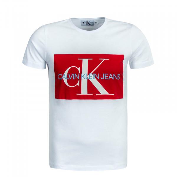 designer fashion c9328 24a26 Herren T-Shirt Monogram White Red