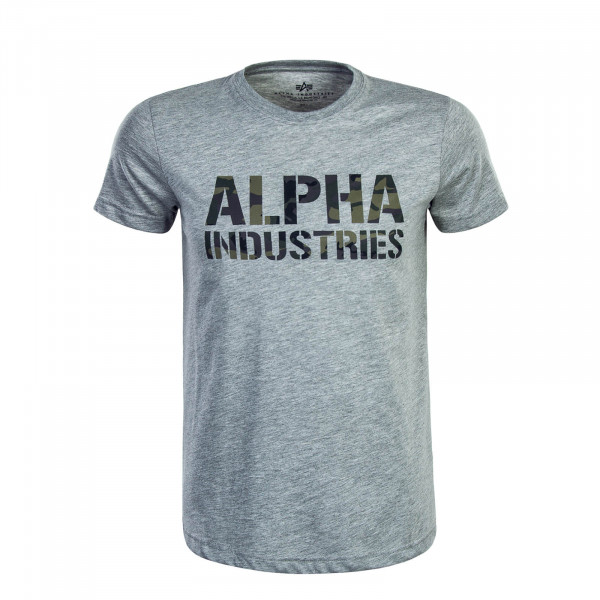 T-Shirt Camouflage Print Grey Olive