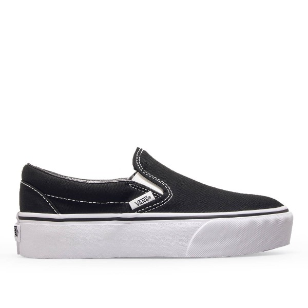 Damen Sneaker Classic Slip On Black White