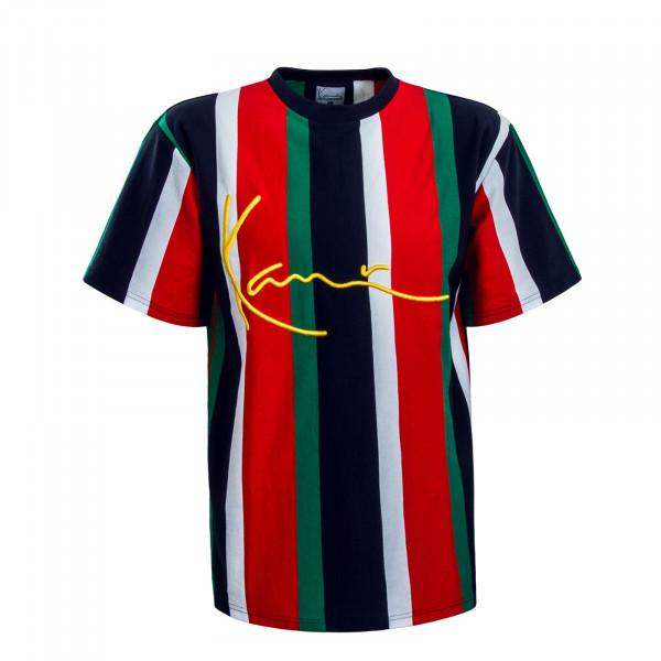 Herren T-Shirt Signature Stripe Navy Red Green