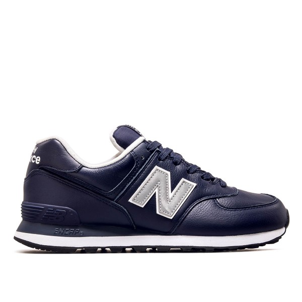 New Balance ML 574 LPN Lth Navy Silver