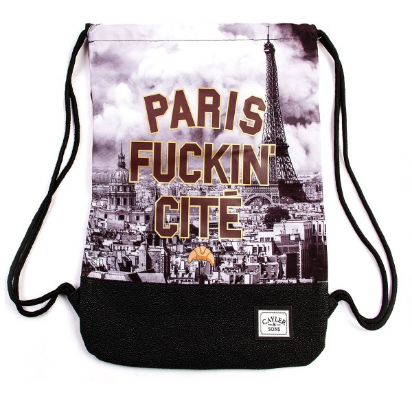 Cayler&Sons Gymbag Paris Skyline Black