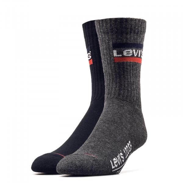 Levis Socks 2Pack Regular Black Grey