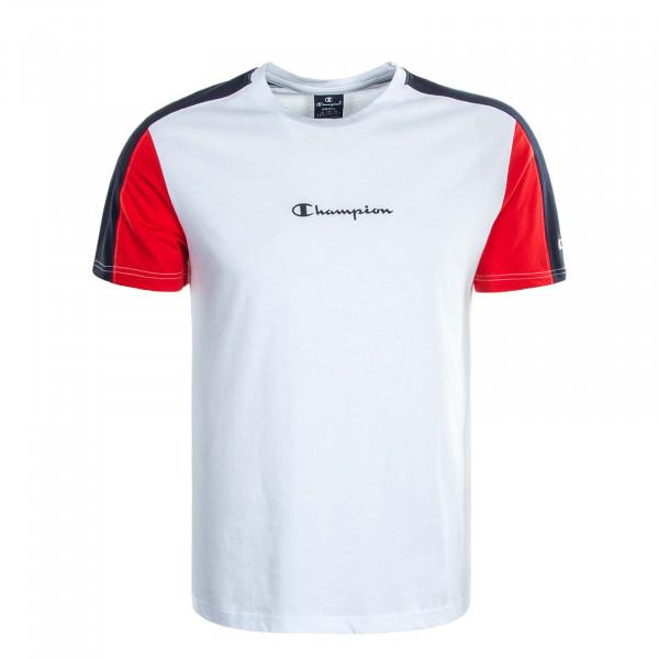 Herren T-Shirt 214820 White Red Navy