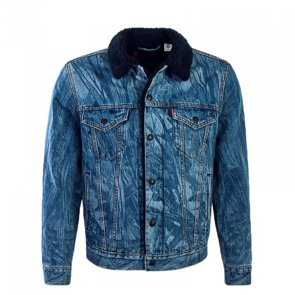 Levis Jeans Jkt Sherpa Justin T. Blue