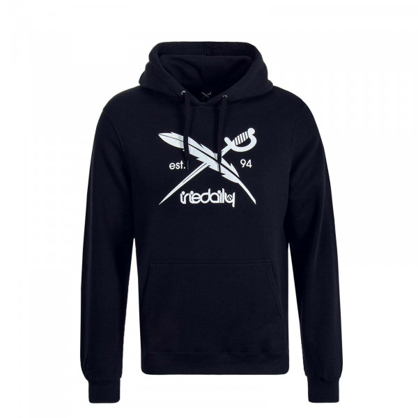 Herren Hoody Daily Flag Black White