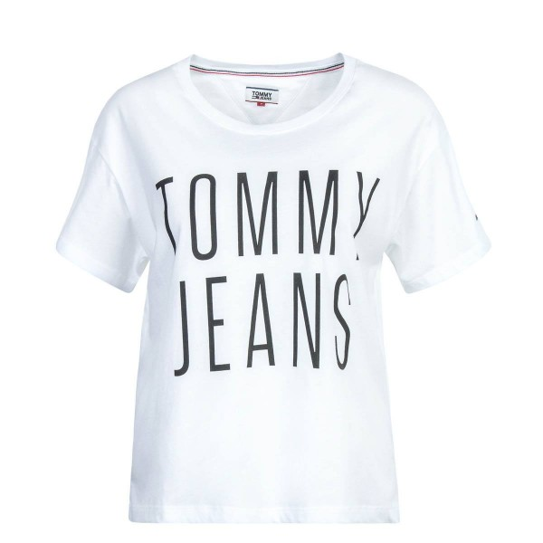 Tommy Wmn TS Cropped White Black