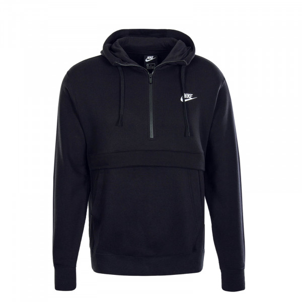 Herren Hoody Zip Club Black White