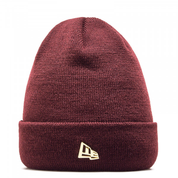 New Era Beanie Metal Flag Bordo Gold