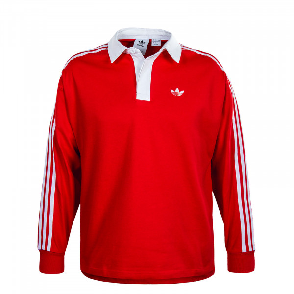 Herren Longsleeve . Solid Rugby - Red / White