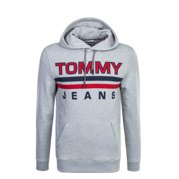 Tommy Hoody Essential Grey Red
