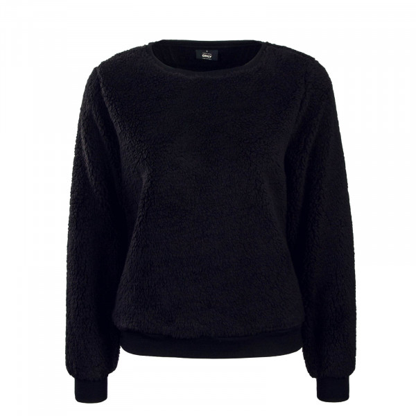 Damen Sweatshirt Fleece Black