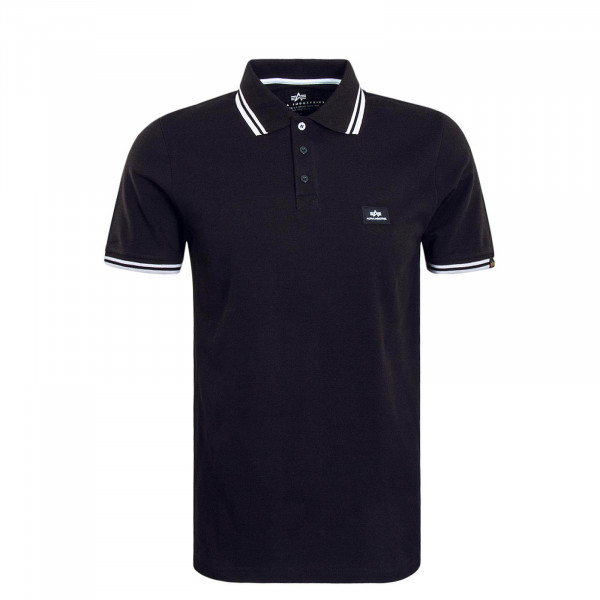 Herren Polo Twin Black White