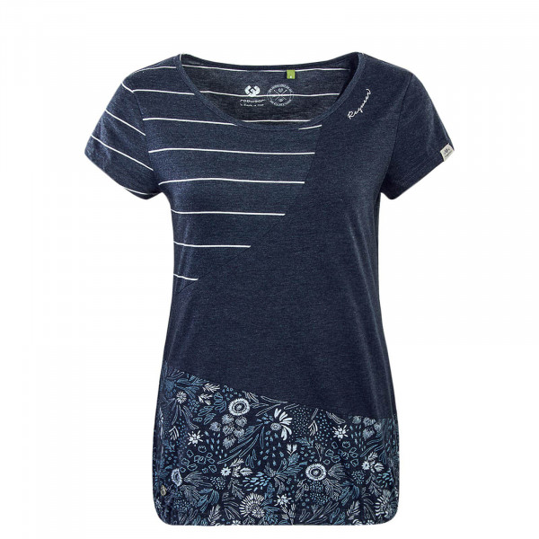 Damen T-Shirt Taby Block Navy