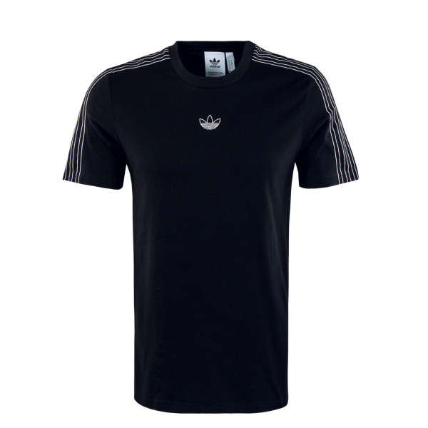 Herren T-Shirt - Sport 3 Stripe -  Black / White