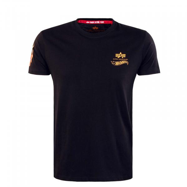 Herren T-Shirt -  Flame - Black