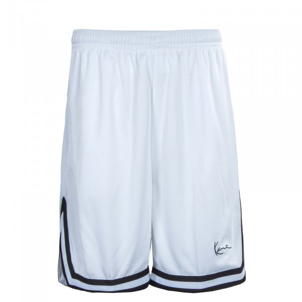 Herren Shorts - Mesh - White Black