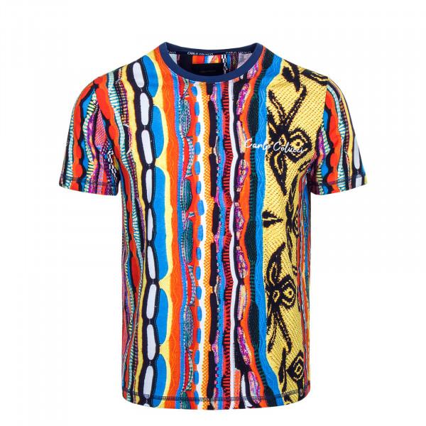 Herren T-Shirt 3129 Orange Blue Black