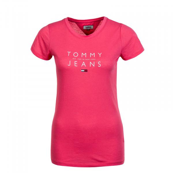 Damen T-Shirt Essential Logo Tee 8470 Glamour Pink
