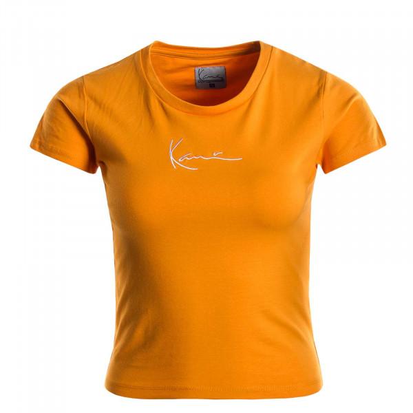 Damen T-Shirt Signature Orange White