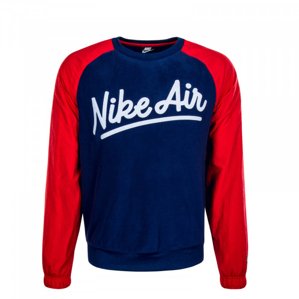 Herren Sweatshirt Air Crew Mix 5187 Blue Red