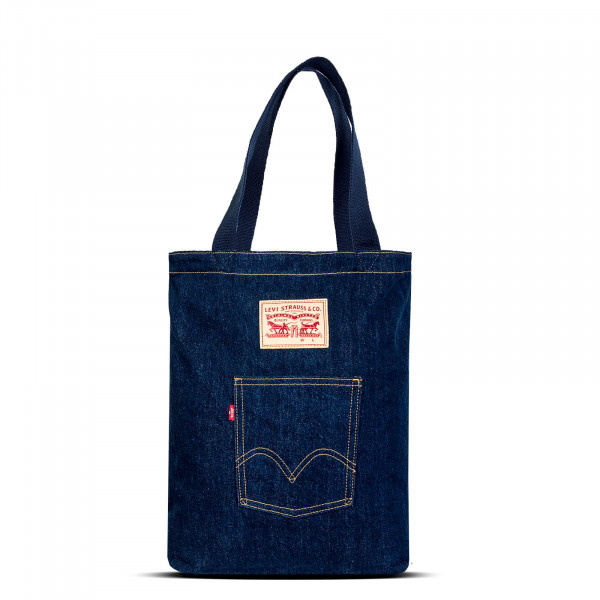 Bag Front Pocket Tote Dark Blue