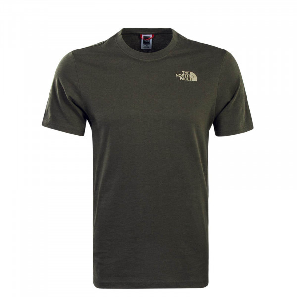 Herren T-Shirt Red Box Olive Beige