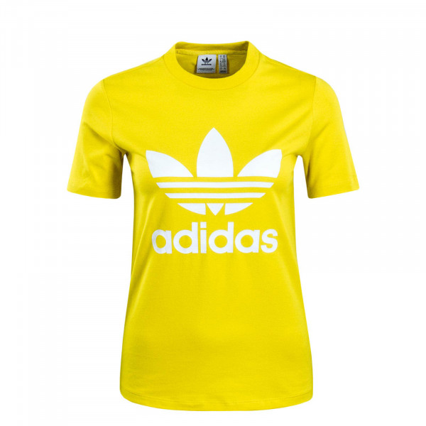 Damen T-Shirt Trefoil Yellow White