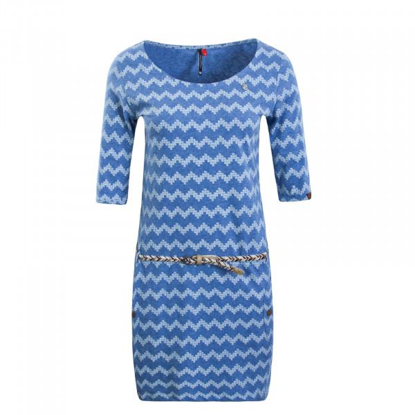 Damenkleid Tanya Zig Zag Blue White
