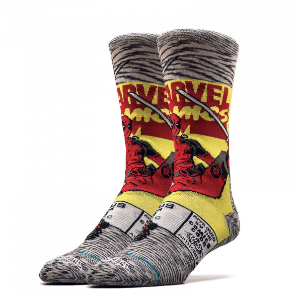 Socken Deadpool Grey Red Yellow