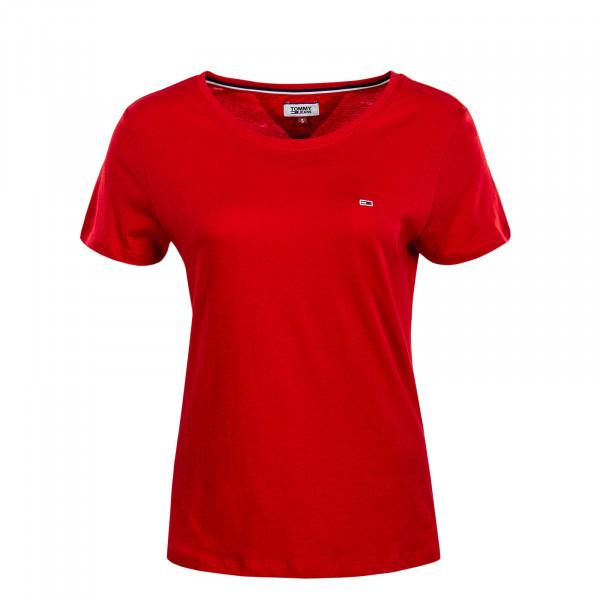 Damen T-Shirt Soft Jersey Red