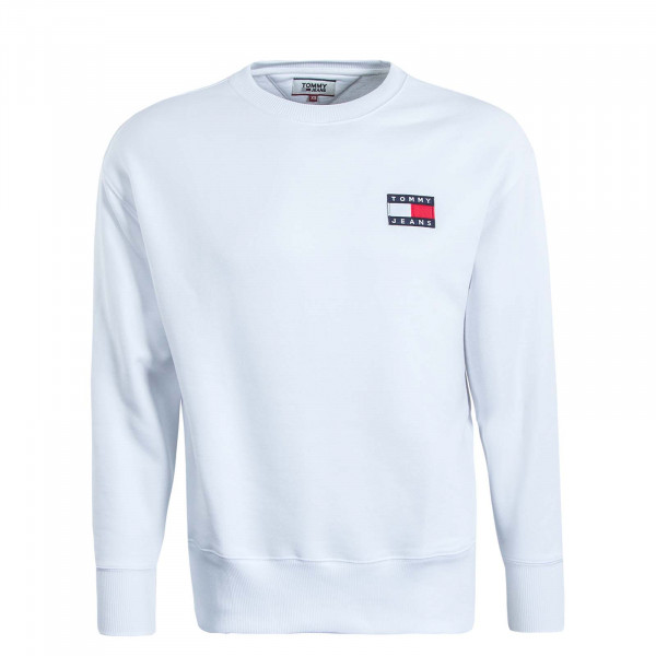 Herren Sweatshirt 6592 Badge Crew White