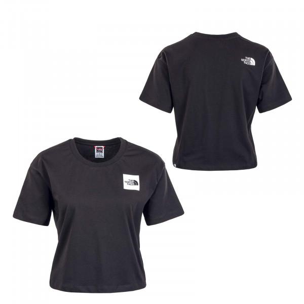 Damen T-Shirt - Cropped Fine - Black