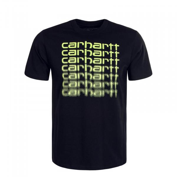 Herren T-Shirt Fading Script Black Lime