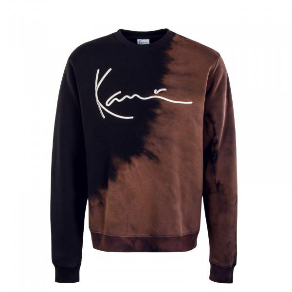 Herren Sweater - Signature Sweat Bleached Crew - Black